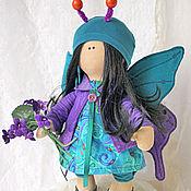 Dolls handmade. Livemaster - original item Doll butterfly. Turquoise with purple. Interior doll.. Handmade.
