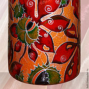 Посуда handmade. Livemaster - original item A bottle of Chestnuts, stained glass painting on ceramics. Handmade.