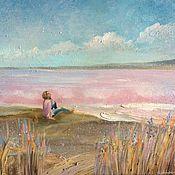 Картины и панно handmade. Livemaster - original item Pink lake. Handmade.