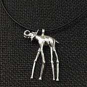 """Винтаж ручной работы. Ярмарка Мастеров - ручная работа Подвеска """"Elefante  de Dali"""" серебро  925. Handmade."""