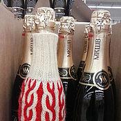 Сувениры и подарки ручной работы. Ярмарка Мастеров - ручная работа Рождественский свитер для бутылки вина. Handmade.