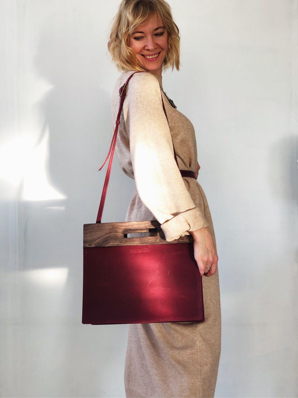 Кожаная сумка квадрат Малевича, Классическая сумка, Москва,  Фото №1
