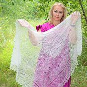 Аксессуары handmade. Livemaster - original item Shawls: Openwork down shawl-gossamer. Handmade.