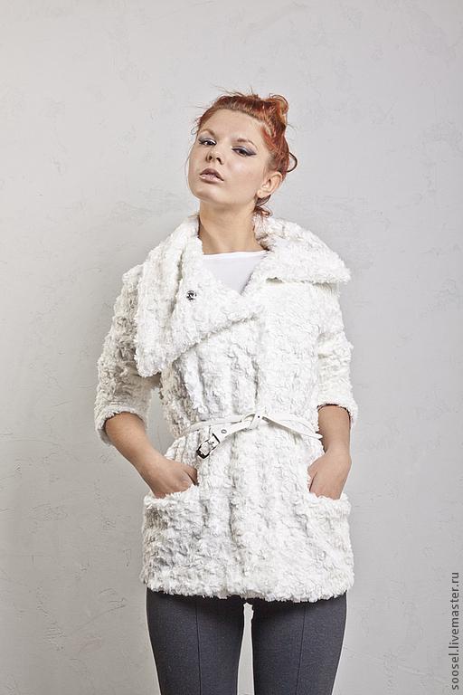 """Верхняя одежда ручной работы. Ярмарка Мастеров - ручная работа. Купить Пальто """"Пух-перо"""". Handmade. Белый, осень"""