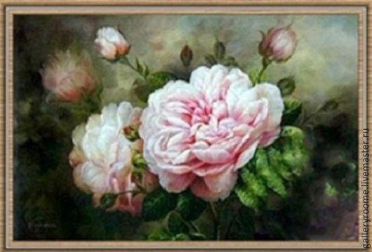 Другие виды рукоделия ручной работы. Ярмарка Мастеров - ручная работа. Купить Живопись по номерам Нежность роз. Handmade.