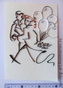 ручной работы. Ярмарка Мастеров - ручная работа. Купить Открытка Любимому человеку! Контурный квиллинг по картине Тая Уилсона!. Handmade.