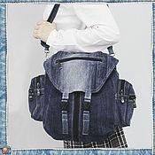 Сумки и аксессуары ручной работы. Ярмарка Мастеров - ручная работа Джинсовая сумка-рюкзак. Модель 47. Handmade.