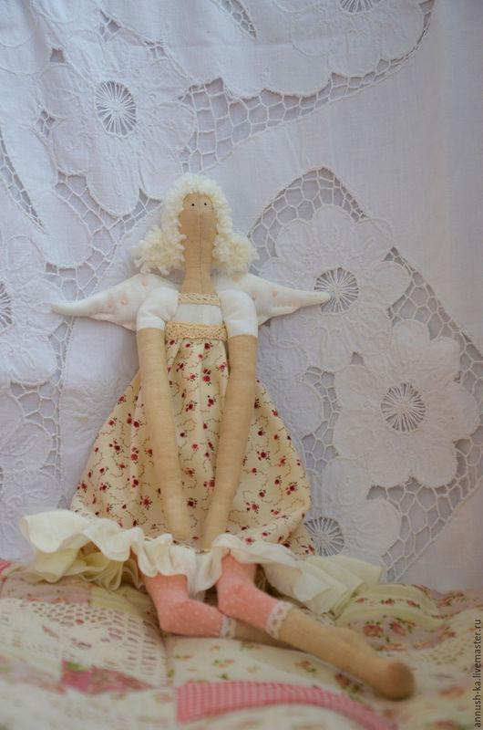 Куклы Тильды ручной работы. Ярмарка Мастеров - ручная работа. Купить Тильда-ангел. Handmade. Бежевый, ангел, шитье, хлопок