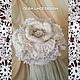 """Шапки ручной работы. Шапка  """"Cream Piaget"""" от Olga Lace. Крем Пьяже- ароматная роза.. Olga Lace. Ярмарка Мастеров."""