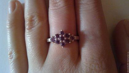 Кольца ручной работы. Серебряное кольцо с аметистом. Stone age. Ярмарка Мастеров. Кольцо из серебра, серебро 925 пробы