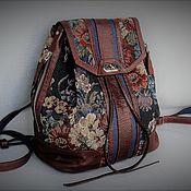 Сумки и аксессуары handmade. Livemaster - original item Backpack-transformer W0089. Leather, tapestry.Author`s work. Alia Svalia. Handmade.