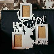 Для дома и интерьера ручной работы. Ярмарка Мастеров - ручная работа Рамка для фото в скандинавском стиле «Home Sweet Home». Handmade.