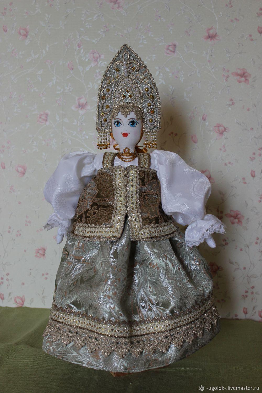 Текстильная кукла в костюме Ярославской губернии, Народная кукла, Углич,  Фото №1