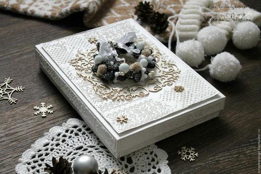 Открытки к Новому году ручной работы. Ярмарка Мастеров - ручная работа. Купить Открытка с Новым годом и Рождеством в коробочке.. Handmade.