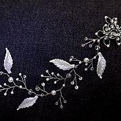 Свадебный салон handmade. Livemaster - original item Twig hair Assol white. Handmade.