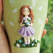 Посуда handmade. Livemaster - original item Mug with decor