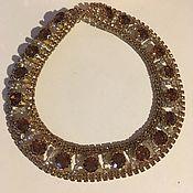 Винтаж handmade. Livemaster - original item Vintage necklace-collar with crystals, vintage US. Handmade.