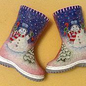 Работы для детей, handmade. Livemaster - original item Boots kids