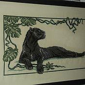 Картины и панно ручной работы. Ярмарка Мастеров - ручная работа Пантера. Handmade.