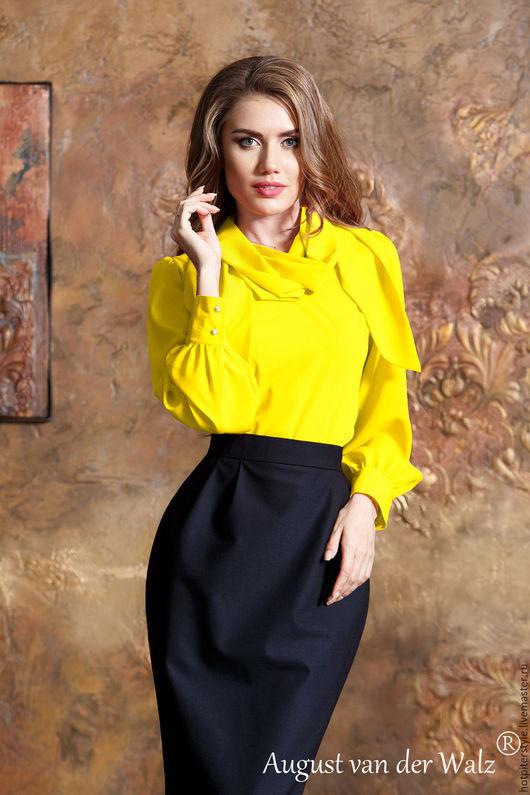 Блузка, Блузка из шифона, Блузка с бантом, блузка офисная, блузка на каждый день, блузка на осень, блузка в офис, блузка женская, блузка в наличии, блузка ручная работа.
