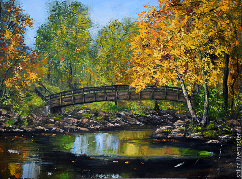 'Golden autumn' oil painting, Pictures, Asha,  Фото №1