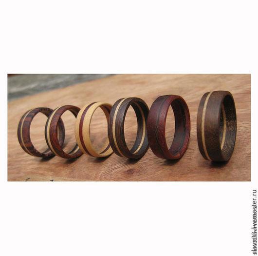 Кольца ручной работы. Ярмарка Мастеров - ручная работа. Купить Деревянные кольца.. Handmade. Кольца, дерево, wooden rings