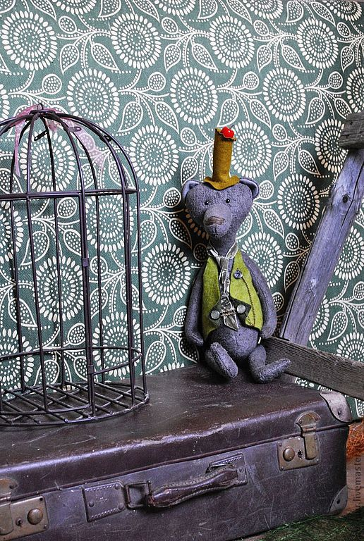 Мишки Тедди ручной работы. Ярмарка Мастеров - ручная работа. Купить Mr. Red Apple (Нашел любящий дом). Handmade.