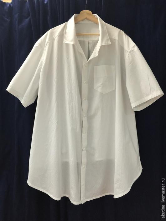 Для мужчин, ручной работы. Ярмарка Мастеров - ручная работа. Купить Рубашка на большой живот. Handmade. Белый, рубашка, Мужская рубашка