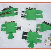 Куклы и игрушки ручной работы. Ярмарка Мастеров - ручная работа Застежка-крокодил. Handmade.