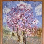 """Картины и панно ручной работы. Ярмарка Мастеров - ручная работа Картина из шерсти """"Цветущий сад"""". Handmade."""
