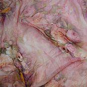 Материалы для творчества handmade. Livemaster - original item Crazy 100 % silk chiffon, in stock! Pink haze. Handmade.
