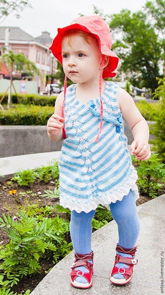 """Одежда для девочек, ручной работы. Ярмарка Мастеров - ручная работа. Купить Сарафанчик для девочки """"Морской"""". Handmade. Комбинированный, сарафан"""