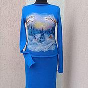 Одежда ручной работы. Ярмарка Мастеров - ручная работа костюм вязаный Избушка лесника. Handmade.
