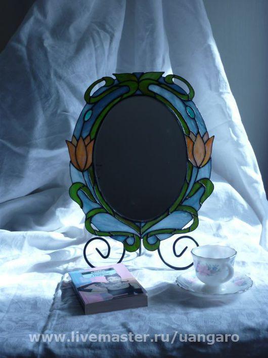 """Зеркала ручной работы. Ярмарка Мастеров - ручная работа. Купить Зеркало """"Завтрак у Тиффани"""". Handmade. Стекло цветное, зеркало"""
