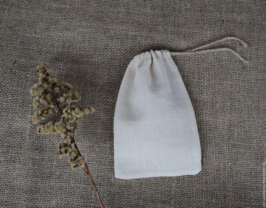 Упаковка ручной работы. Ярмарка Мастеров - ручная работа. Купить Мешочек упаковочный из двунитки 10х15 см. Handmade. Мешочки