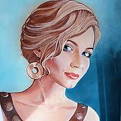 Картины и панно ручной работы. Ярмарка Мастеров - ручная работа Портрет по фотографии. Handmade.