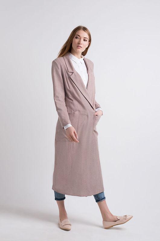 Верхняя одежда ручной работы. Ярмарка Мастеров - ручная работа. Купить Классическое пальто. Handmade. Розовый, розовое пальто, шерсть