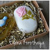 """Косметика ручной работы. Ярмарка Мастеров - ручная работа """"Птичка и роза"""" Набор мыла ручной работы. Handmade."""