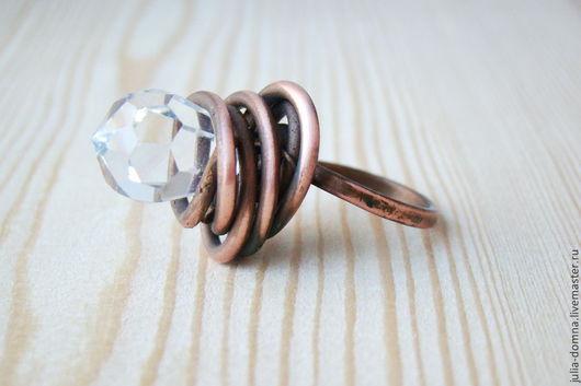 Кольца ручной работы. Ярмарка Мастеров - ручная работа. Купить Кольцо ,,The Rock,,. Handmade. Медное кольцо, экстравагантное кольцо