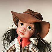 """Куклы и игрушки ручной работы. Ярмарка Мастеров - ручная работа Авторская кукла """"Маленькая ковбойша Джесси"""". Handmade."""