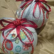 Подарки к праздникам ручной работы. Ярмарка Мастеров - ручная работа Новогодние шары на ёлку. Handmade.