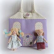 Куклы и игрушки ручной работы. Ярмарка Мастеров - ручная работа Домик-сумочка для двух куколок. Handmade.