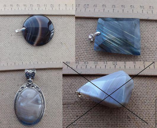 Для украшений ручной работы. Ярмарка Мастеров - ручная работа. Купить Подвески из камня. Handmade. Агат, камни