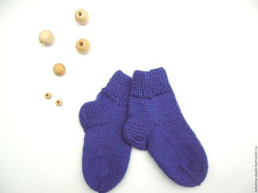 Носки, гольфы, гетры ручной работы. Ярмарка Мастеров - ручная работа. Купить Носочки детские. Handmade. Тёмно-синий