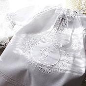 Работы для детей, handmade. Livemaster - original item Baptismal gown and bonnet