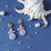 Украшения handmade. Livemaster - original item Ariel Sea Earrings. Earrings with pearls.. Handmade.