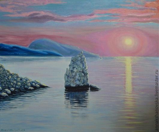 """Пейзаж ручной работы. Ярмарка Мастеров - ручная работа. Купить Картина """"Скала Парус"""". Handmade. Море, морской пейзаж, картина"""