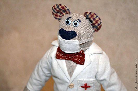 Игрушки животные, ручной работы. Ярмарка Мастеров - ручная работа. Купить Медведь Добрый Лекарь. Handmade. Белый, медведь