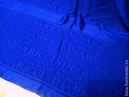 """Шарфы и шарфики ручной работы. Ярмарка Мастеров - ручная работа. Купить Шелковый шарф """"Nina Ricci"""". Handmade. Тёмно-синий"""