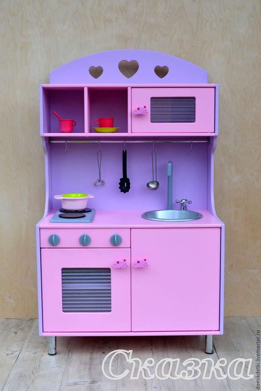 Кукольный дом ручной работы. Ярмарка Мастеров - ручная работа. Купить Детская кухня. Handmade. Кухня, для детей, фанера